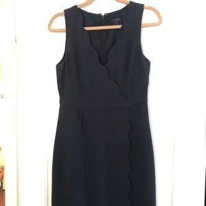 J.Crew navy scalloped dress